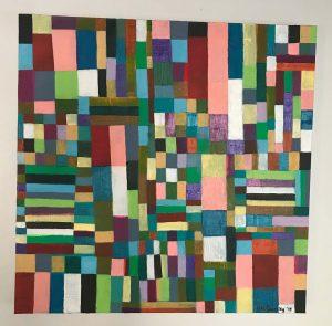"""Poetricity. Acrylic on canvas 36"""" x 36"""""""