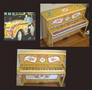 John Lennon-Painted Piano