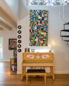 "Quilt. Acrylic on canvas 60"" x 36"""