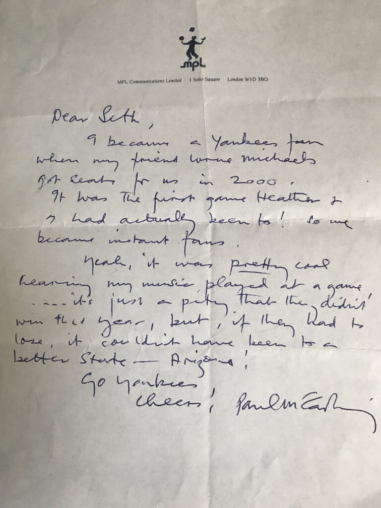 A Letter from Sir Paul
